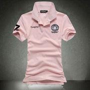大きいサイズ 刺繍半袖ポロシャツ 7色 メンズ S-5XL 100404