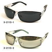 【新製品】メタルフレームサングラス(UVカット)X-2115-1X2115-2
