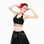 激安!ベリーダンス◆ブラトップ◆ブラジャー◆フリンジ◆ビーズ&スパンコール◆花柄◆ホルター式