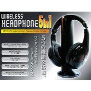 多機能 高性能 FMラジオ搭載 ◇ 5in1ワイヤレスサウンドヘッドフォン
