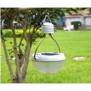 ソーラー&USB充電式防水LEDライト★キャンプやウッドデッキに。
