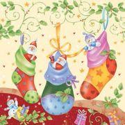 Daisy  ペーパーナプキン クリスマス サンタ・スノーマン・靴下