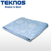テクノス 洗える綿掛敷毛布 EM-733