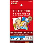 エレコム キヤノンプリンタ対応光沢紙(L判/100枚) EJK-CGNL100