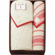 【代引不可】 フレンチリネン使用五重織ガーゼケット&敷パットセット 寝具