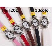 T&Hレディース腕時計 PUレザーベルト 日本製高性能省電力ムーブメント 電池寿命4年以上