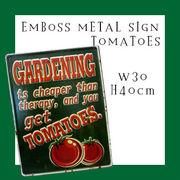 エンボスメタルサイン TOMATOES