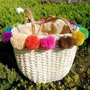 編みカゴバッグ☆夏の雰囲気ならやっぱりカゴバッグがほしい♪軽量かつ収納力抜群でとても便利なアイテム♪