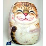 【HenryCats&Friends】ヘンリーキャット ネコ型クッション 中 ベラ インテリア 猫 ねこ 雑貨