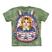 星条旗バックパック 仔猫 Tシャツ 【子供用】