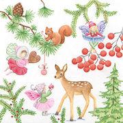 Home Fashion ペーパーナプキン クリスマス <動物×フェアリー>