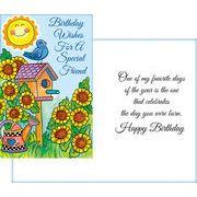 Stockwell Greetings グリーティングカード バースデー(フレンド) ヒマワリ×鳥・太陽