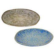 手作り感のあるナチュラルな陶器の食器!【ポッタープレート(S)】2色チョイス♪