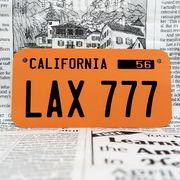 好きな文字にできるアメリカナンバープレート(小・自転車用サイズ)カリフォルニア50年代