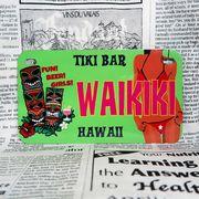 好きな文字にできるアメリカナンバープレート(中・USバイク用サイズ)ハワイ・ティキバー