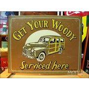 アメリカンブリキ看板 Woody Service