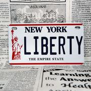 好きな文字にできるアメリカナンバープレート(中・USバイク用サイズ)ニューヨーク