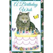 Stockwell Greetings グリーティングカード バースデー 猫×ケーキ