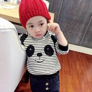 格安!!5.7.9.11.13セット★ベビー★幼児★ボーダー柄★パンダ★スウェット★厚手フーディ