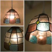 �yTiffany Glass Lamp Shade �z���[���b�p�X�e���h���� �e�B�t�@�j�[�O���X �����v Scollop�X�J���b�v��