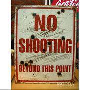 アメリカンブリキ看板 No Shooting 狩り禁止
