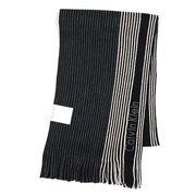 Calvin Klein �J���o���N���C�� PIN STRIPE BLOCHED RASCHEL MUFFLER �}�t���[ �u���b�N 77300