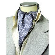 エレガント袋縫いリトルドルフィン柄メンズ用100%シルクスカーフ 1118