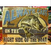 アメリカンブリキ看板 いつでも釣りをしたい