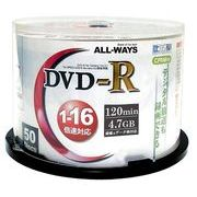 �y DVD-R �z ALL-WAYS ACPR16X50PW�y �^��p�ECPRM�Ή� 16�{�� ���C�h�v�����^�u�� 4.7GB...