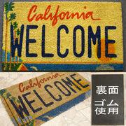 ★ココナツ玄関マット★コイヤーマット★【COIR MAT】カリフォルニア ウェルカム★California WELCOME★