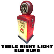 【新生活 インテリア】ポリストーン製テーブルナイトライト ガスポンプ