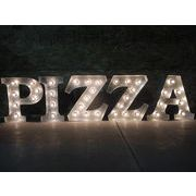 AMERICAN SIGN WITH LIGHT 「PIZZA」