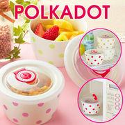 【ノベルティ】ポルカドット/レンジパック小鉢