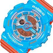カシオ CASIO ベビーG デジタル レディース 腕時計 BA-110NC-2A ブルー/オレンジ