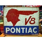 アメリカンブリキ看板 ポンティアック V8