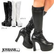 12cmヒールのシンプルロングブーツ【ST01/ゴスロリ/コスプレ】