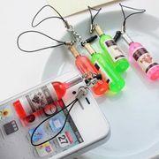 5個アソートセット★ワイン瓶携帯ストラップ :H01B0643