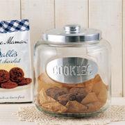 【手作り雑貨】グラスジャー クッキー Glass jar COOKIES◆ガラス容器/瓶
