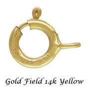 ゴールドフィルド イエロー クラスプパーツ 引き輪 カン開きタイプ/オープンタイプ 4サイズ