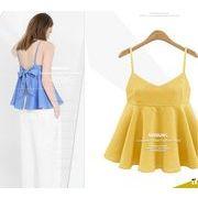 【大きいサイズXL-5XL】ファッションタンクトップ♪ブルー/イエロー/ブラック3色展開◆