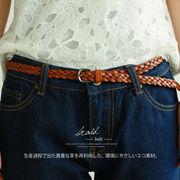 ◆[再生革]三つ編み細ベルト◆423961