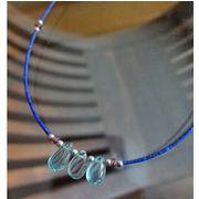 トパーズ + 天然石ネックレス