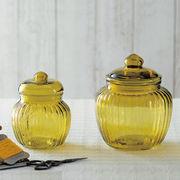 【手作り雑貨】グラスジャー グリーン Glass jar green◆ガラス容器/瓶
