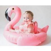 新品★子供用 フラミンゴ 遊べる 浮き輪★