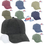 OTTO Washed Pigment Dyed Cotton Twill Low Profile Style Caps-18 202 14460