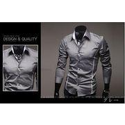 ワイシャツ♪ホワイト/グレー/ブラック3色展開◆【新作】