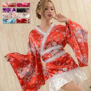 0385きらきらスパンコール&レースフリル和柄花魁着物ドレス 和柄 よさこい 花魁 コスプレ キャバドレス