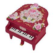 【 ミニピアノ型オルゴール (レッド) 】  ♪カノンB