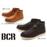 【BCR】 BC-668 ステッチ レースアップ シューズ 全2色 メンズ