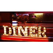 AMERICAN SIGN WITH LIGHT「ON AIR」「DINER」